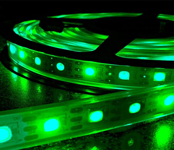 Green FLEXIBLE STRIP LIGHT SERIES